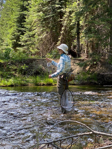 Peaceful fly fishing