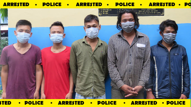Five arrested for vandalizing temporary police post in Sunsari