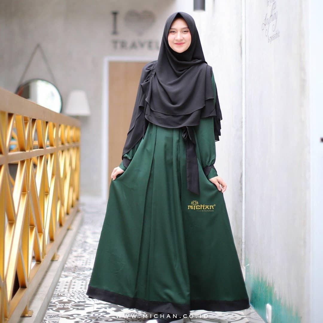 Model Gamis Syar I Terbaik 2021 Desain Mewah Dan Modern Model Baju Terbaru
