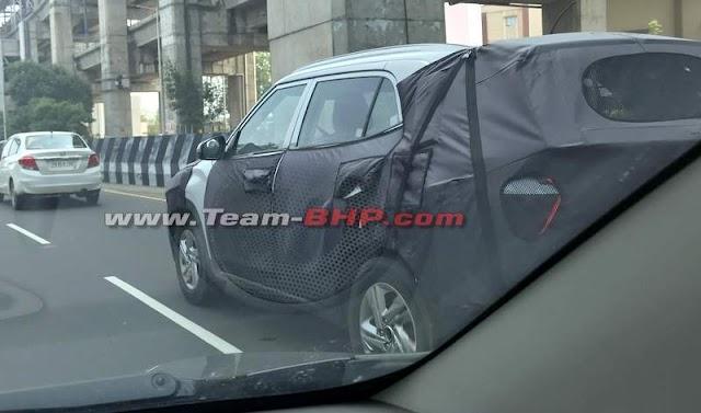 2020 Hyundai Creta spied in Chennai – Rear LED tail light showed- Teamstechnology