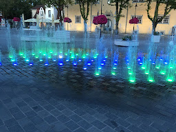 Splash pad in city