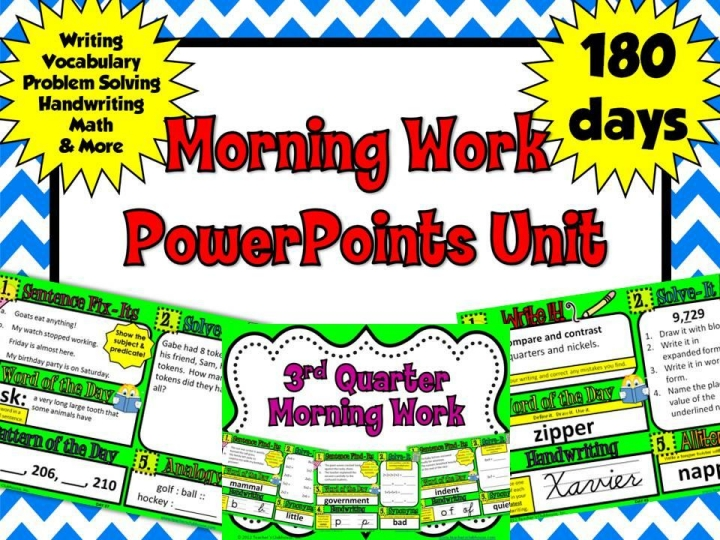 http://www.teacherspayteachers.com/Product/2nd-Grade-Morning-Work-PowerPoints-Unit-from-Teachers-Clubhouse-468762