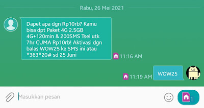 PAKET Murah Telkomsel Ceria 7 Days 2.5 GB Free Sms dan Telfon