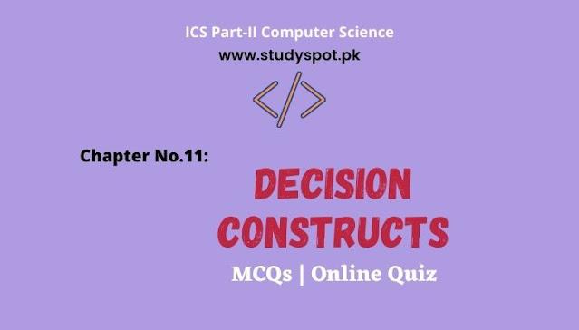 MCQ on Control Statements in C decision constructs mcqs ics quiz