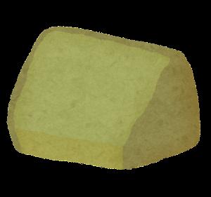 シフォンケーキのイラスト(カット・抹茶)