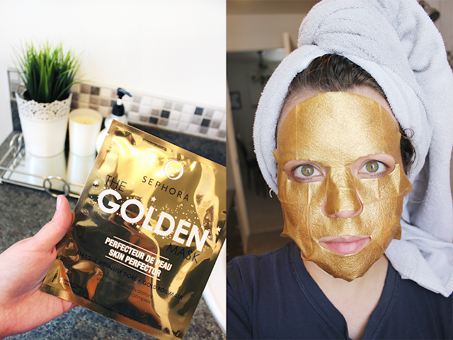 "Masque métallisé doré ""The Golden Mask"" de Sephora"
