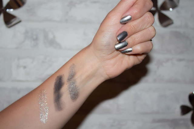 swatch maquillage argenté