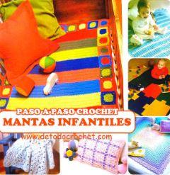 6 mantillas y mantas de cuna tejidas al crochet