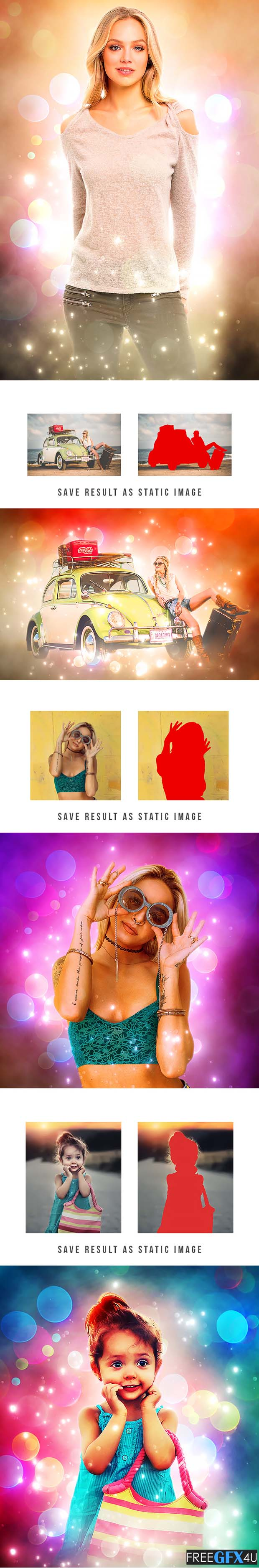 Graphicriver - Magic Bokeh Animated Photoshop Action