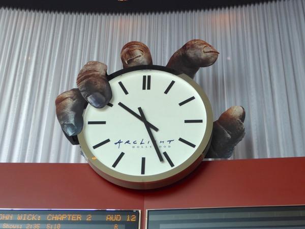 King Kong hand ArcLight Hollywood cinema clock