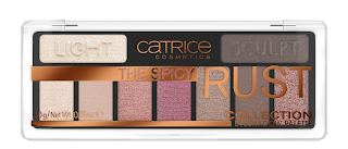 catrice visual wow & effects the spicy rust collection eyeshadow palette.