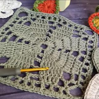 Granny Corazones a Crochet