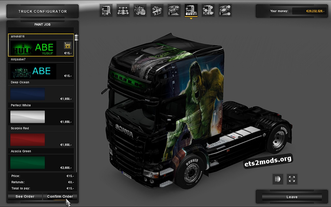 Two skins for Scania RJL by Abe016