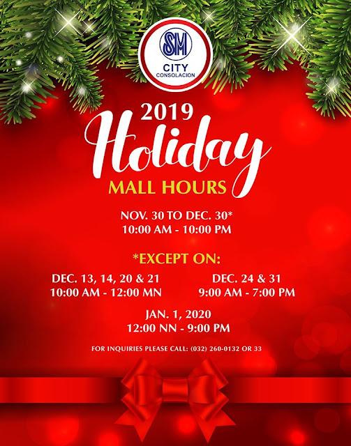 SM City Consolacion Mall Hours 2019