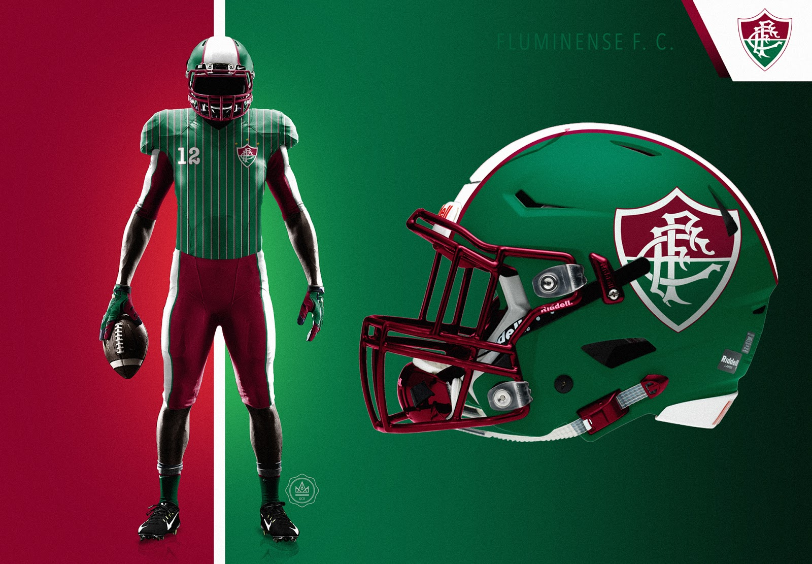 e8a5d7afb8 Designer cria camisas de futebol americano para clubes brasileiros ...