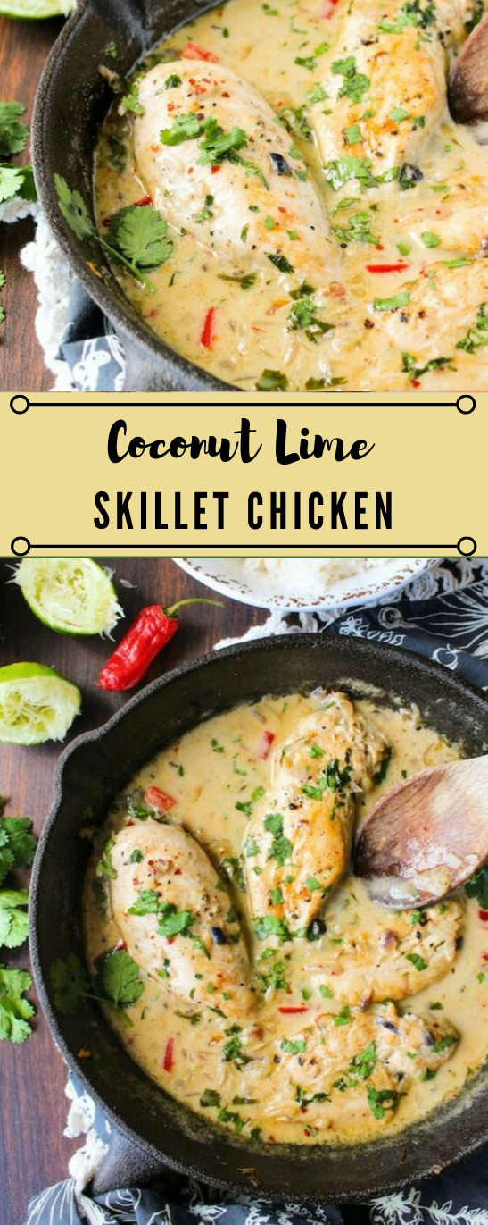 COCONUT LIME CHICKEN #chicken #coconut #healthydinner #lime #food