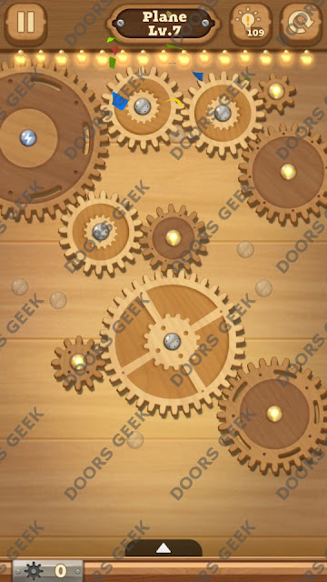 Fix it: Gear Puzzle [Plane] Level 7 Solution, Cheats, Walkthrough for Android, iPhone, iPad and iPod