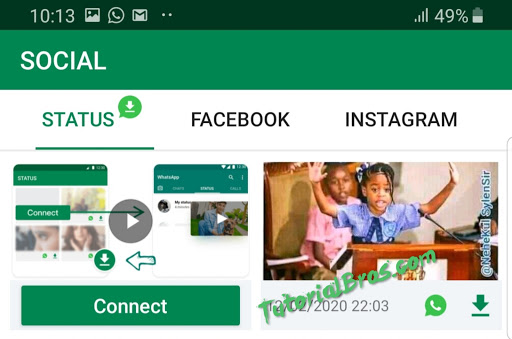 Easily How to Save WhatsApp Status using Xender