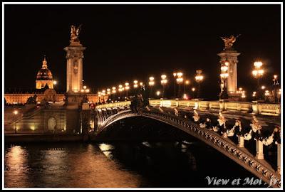 paris, vue du pont alexandre III