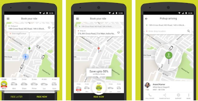 Ola cabs - Taxi, Auto, Car Rental, Share Booking