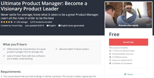 [100% Free] Ultimate Product Manager: Become a Visionary Product Leader