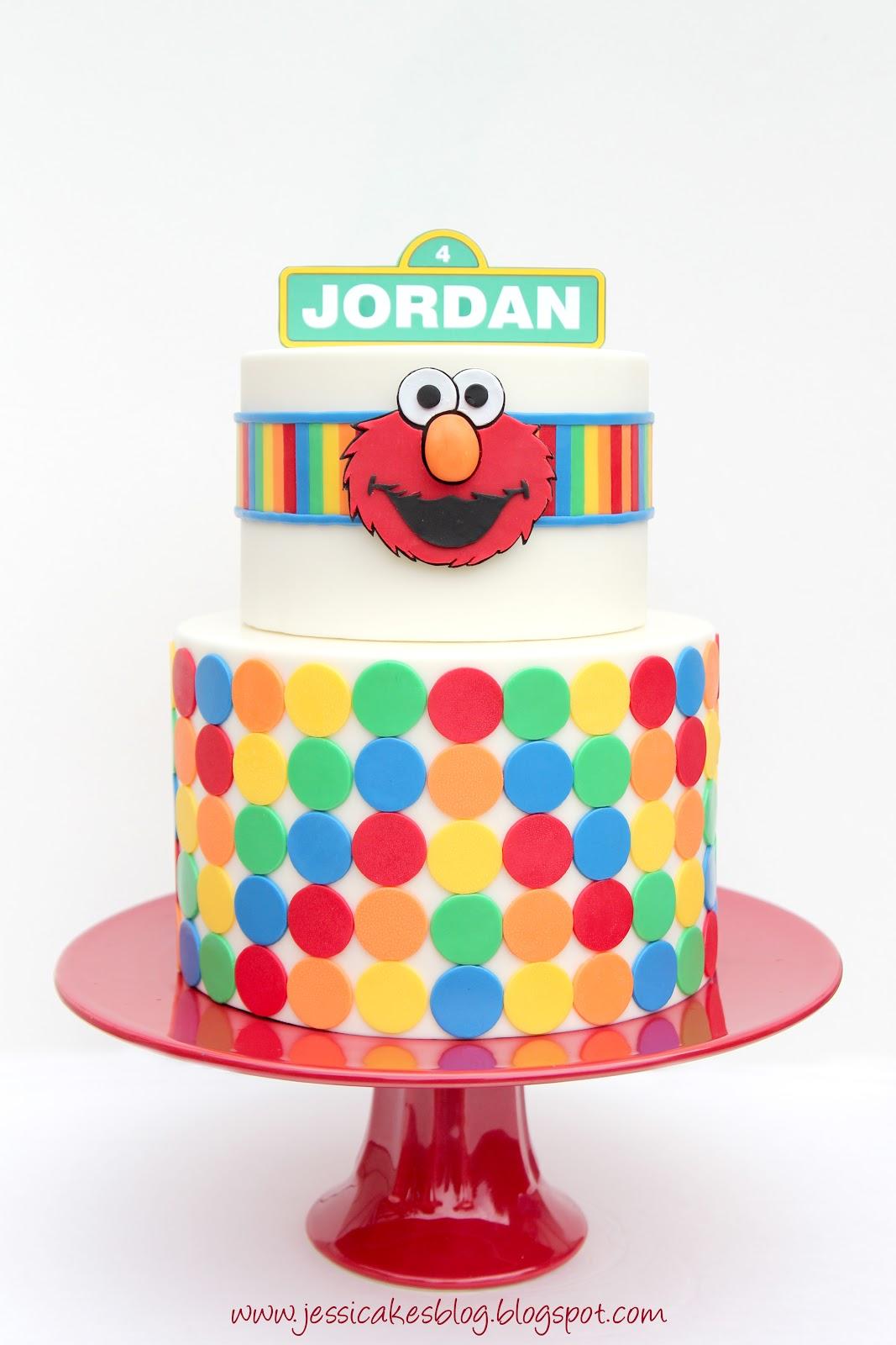 Tier Elmo Birthday Cake