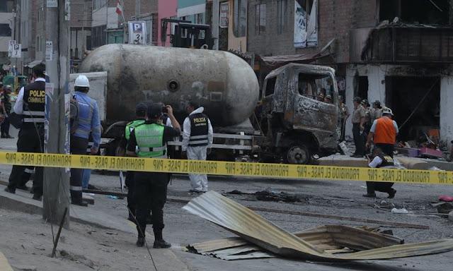 Tragedia en Villa El Salvador, tras explosión de camión de gas