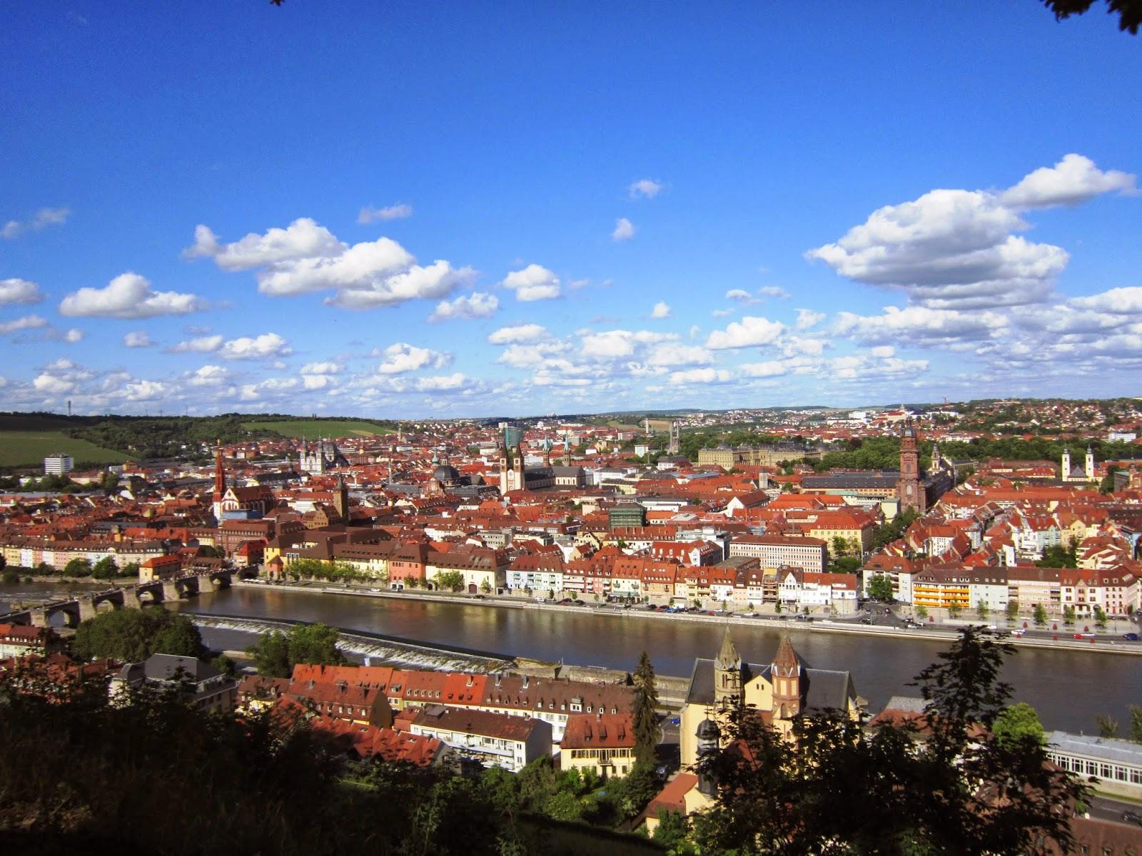 Vistas de Würzburg desde el castillo de Marienberg