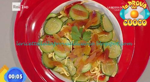 Tagliolini con bottarga e zucchine ricetta Bongiovanni da Prova del Cuoco
