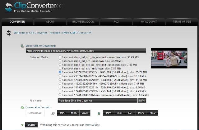 Clip Converter থেকে ইউটিউব ভিডিও ডাউনলোড