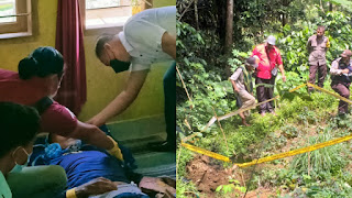 Polisi Mendatangi TKP Penemuan Mayat Dikebun di Lembang Salu, Toraja Utara