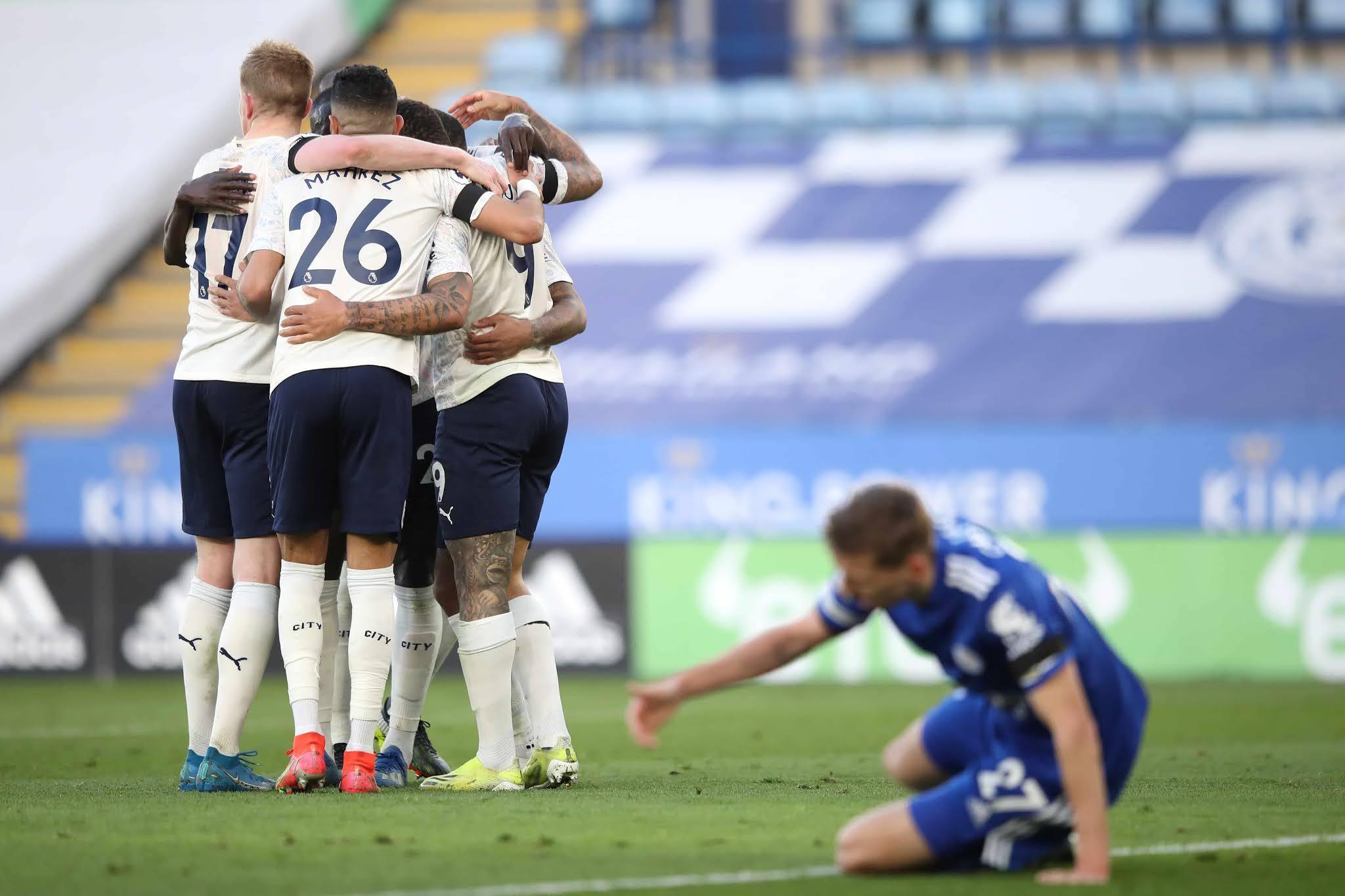 Manchester City, con Agüero de titular, vence 2-0 a Leicester y saca más ventaja en la punta