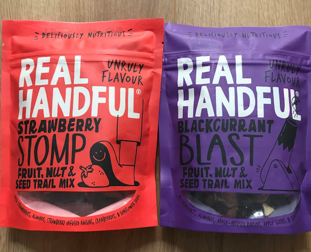 Real handful Blackcurrent Blast Trail Mix / Strawberry Stomp Trail Mix - £2 Degustabox November 2019