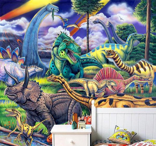 Tapetti Lastenhuoneeseen Valokuvatapetti Lapsia fantasia tapetti dinosaurus tapetti dinosaurukset tapetit lapsi Valokuvatapetti