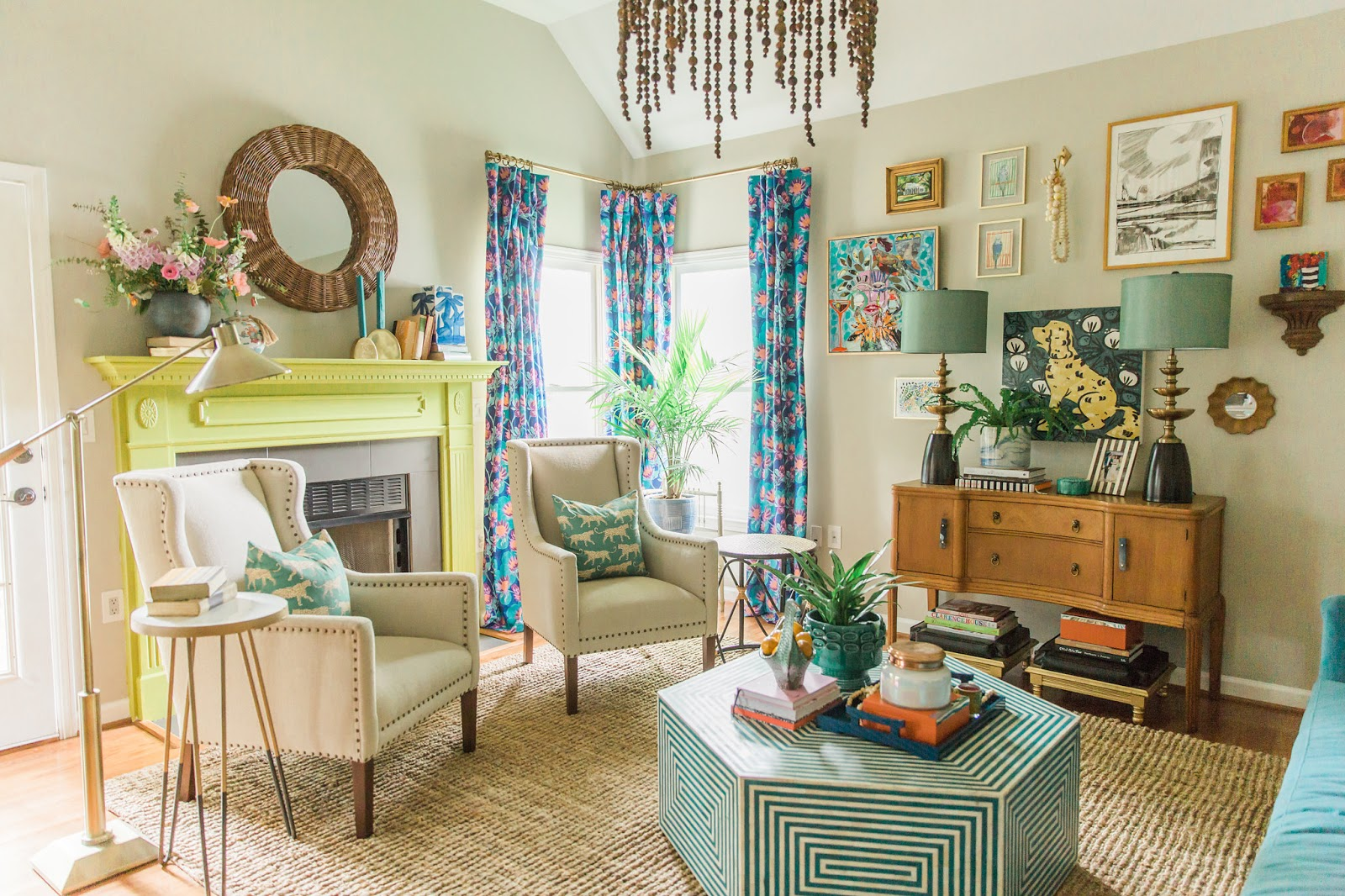 One Room Challenge Reveal: Spring 2017: Color Happy Living Room Part 58