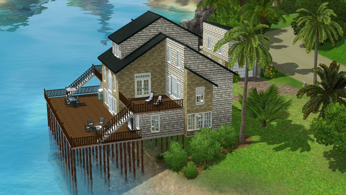 my sims 3 blog large family vacation house by ts3 houses
