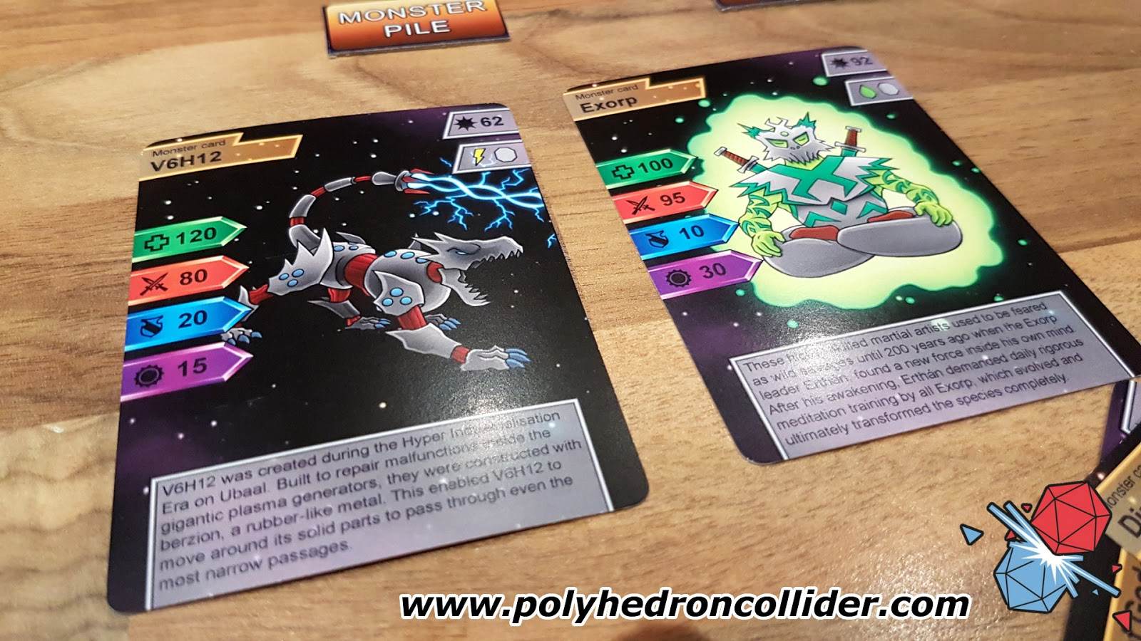 Magmeda Monsters kickstarter review monster cards