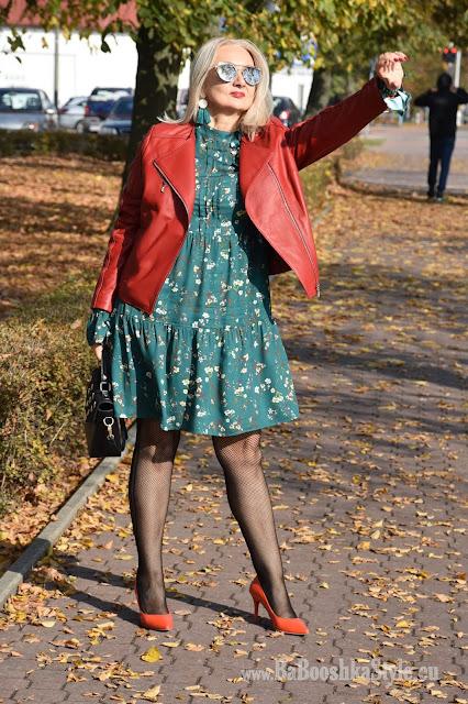 blogerka modowa 50 plus, over50 plus, blogfashion, fashionstylist, stylistka, kreator wizerunku, babooshkastyle, modna50, Orsay, Bonprix, Dune London, Ryłko, ramoneska, leather jacket
