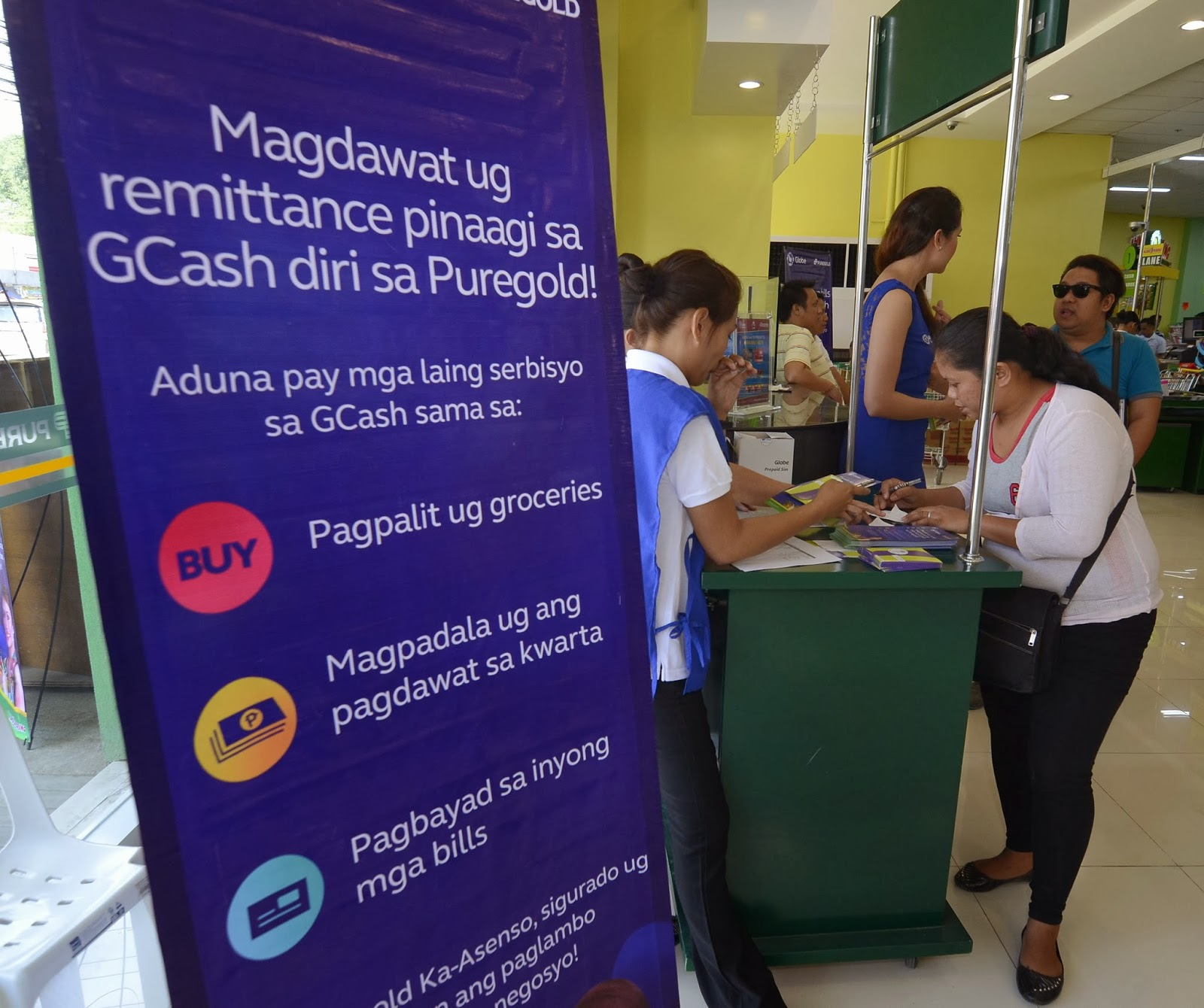 GCash services now offered in Puregold Digos, Tagum, and