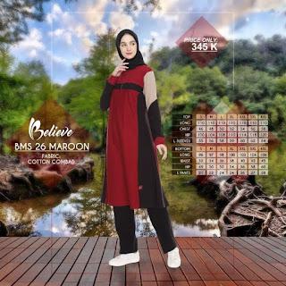 Koleksi terbaru dari Believe  Baju Olahraga muslimah Believe BMS 26