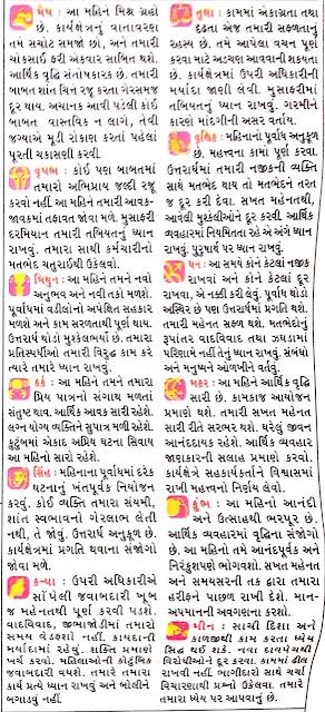 May - Gujarati Rashifal and Rashi Bhavishya 2021
