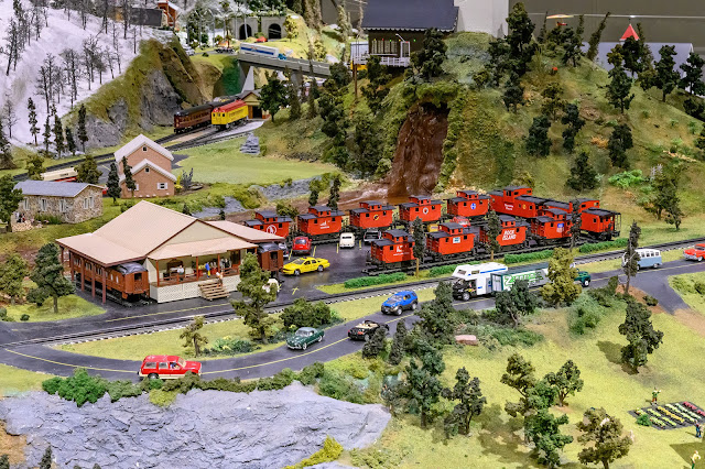 The Red Caboose Motel on the Choo Choo Barn Layout