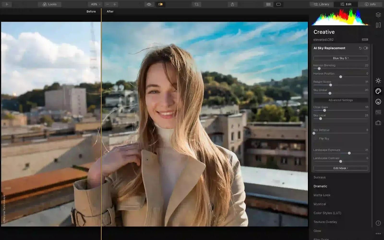 SKYLUM LUMINAR 4 - أفضل محرر صور لنظام التشغيل Windows