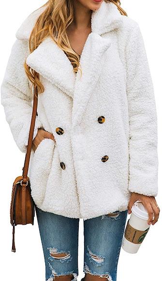 White Faux Fur Coats Jackets