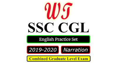 SSC CGL 2020 English Narration Practice Set Free PDF Download