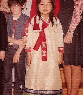 wearing han bok for class pictures