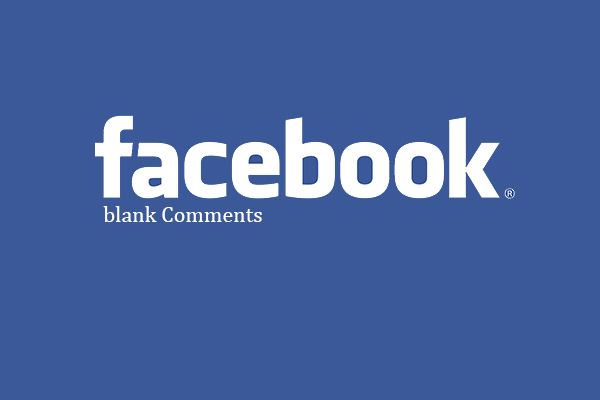 facebook blank comment