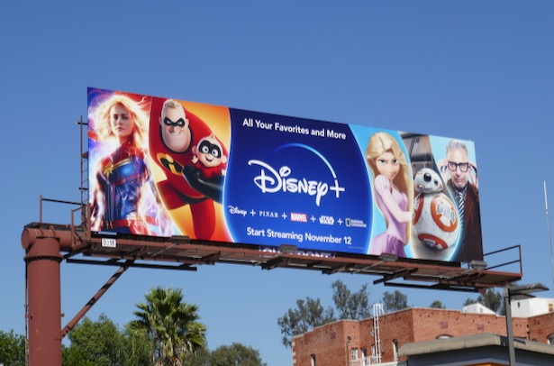 Disney plus launch billboard