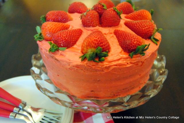 Strawberry Jam Cake at Miz Helen's Country Cottage