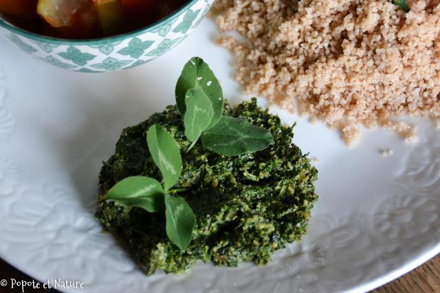 Sauce aux feuilles de trèfles © Popote et Nature